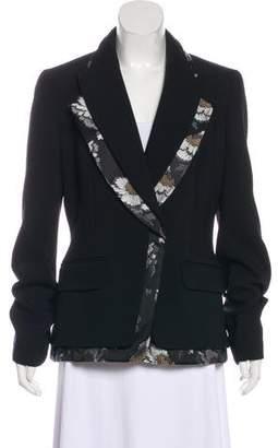 Alexander McQueen Virgin Wool-Blend Long Sleeve Blazer