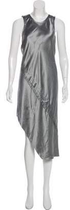 Helmut Lang Satin Sleeveless Midi Dress