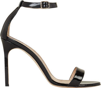 Manolo Blahnik Chaos Patent Leather Heeled Sandals