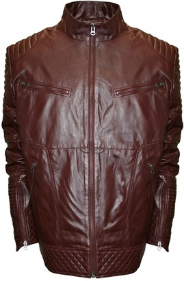 Moto Big & Tall Franchise Club Raw X Quilted Lambskin Leather Jacket