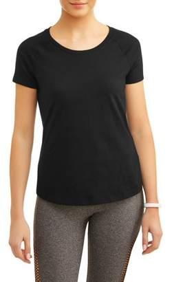 Athletic Works Women's Core Athleisure Scoopneck Short Sleeve Raglan T-Shirt