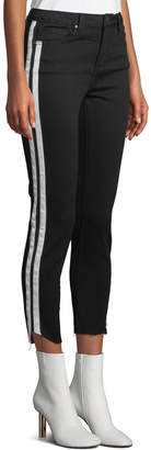 Velvet Heart Maven Racer-Striped Flare-Crop Jeans