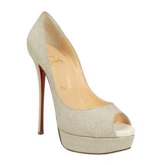 Christian Louboutin Silver Glitter Sandals