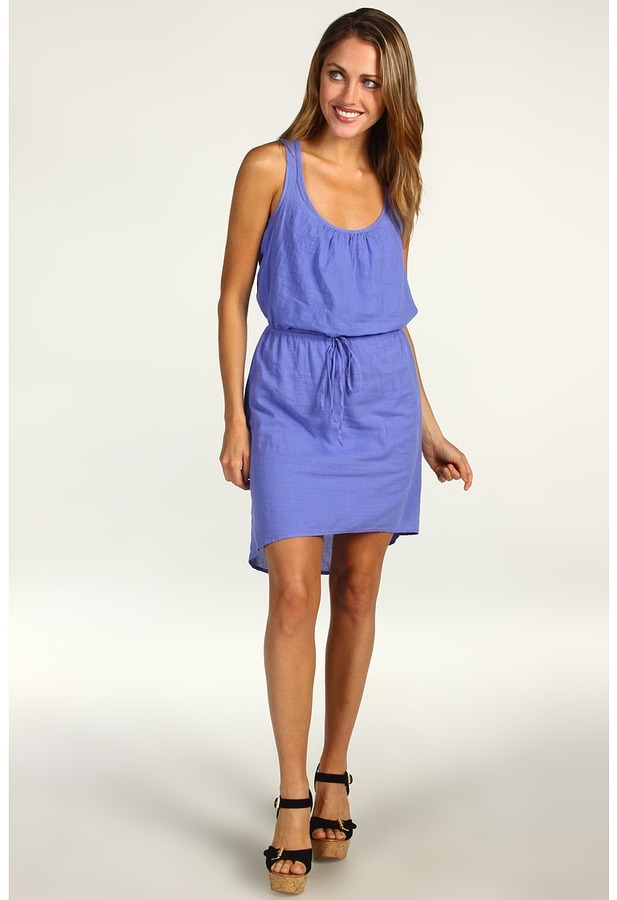 Splendid Cotton Summer Dress (Baja Blue) - Apparel