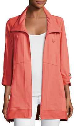 Neon Buddha Ameena Funnel-Neck Knit Topper Jacket $130 thestylecure.com