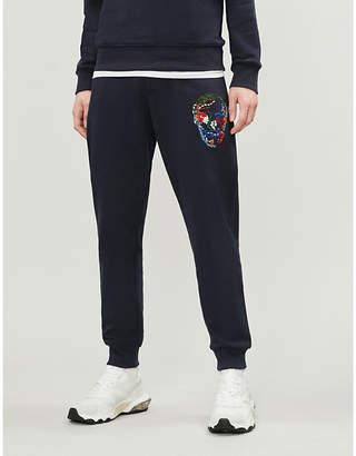 Alexander McQueen Skull-embroidered cotton-jersey jogging bottoms