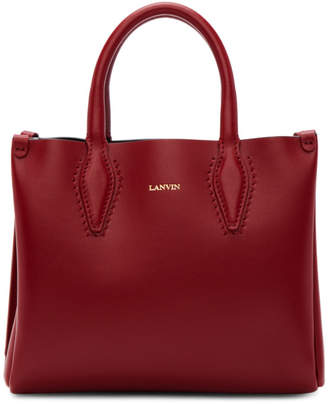 Lanvin Red Nano Shopper Tote