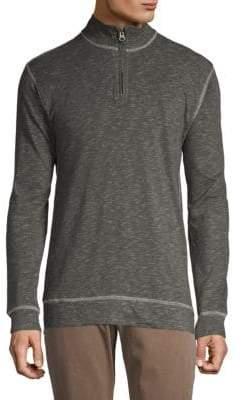 Quarter-Zip Heathered Top
