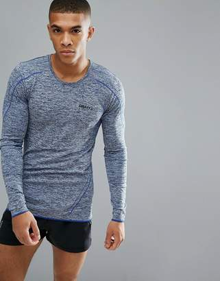 Craft Sportswear Active Comfort Running Knitted Long Sleeve Top In Blue 1903716-2392