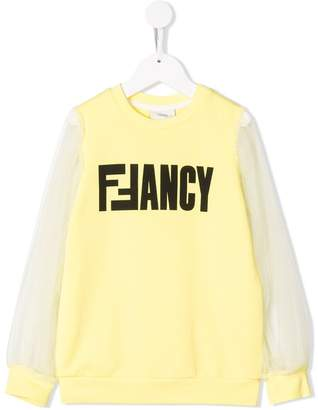 Fendi slogan sweatshirt