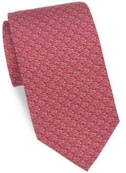 Salvatore Ferragamo Silk Paperclip Turtles Tie