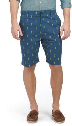 Monroe Pineapple Stretch Twill Shorts