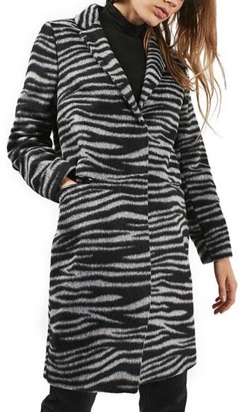 TopshopWomen's Topshop Zebra Print Coat