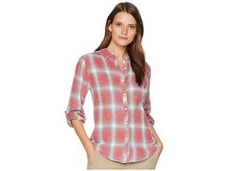 True Grit Dylan by Vintage Washed Thompson Plaid Long Sleeve One-Pocket Shirt