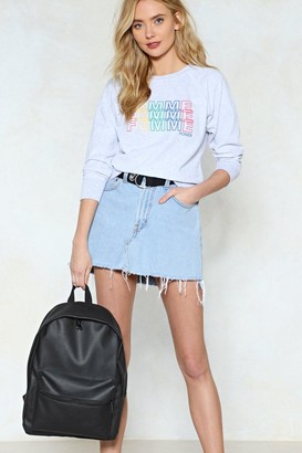 Nasty Gal WANT Back On It Faux Leather Backpack