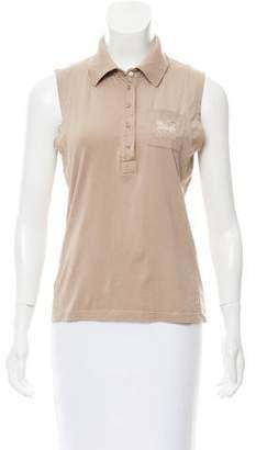 Celine Embroidered Sleeveless Top