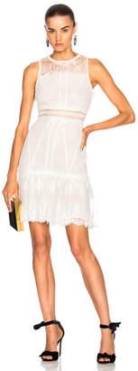 Jonathan Simkhai Scallop Ripple Tier Ruffle Mini Dress