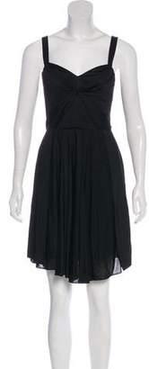 Zac Posen Silk Jersey Mini Dress