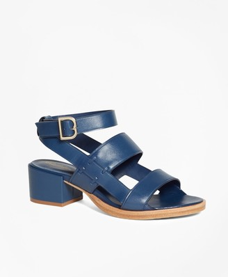 Brooks Brothers Low Ankle-Strap Sandal