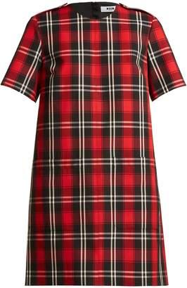 MSGM Tartan twill dress