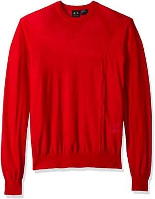 Armani Exchange A|X Men's Long Sleeve Crew Neck Pullover Knit Reg Fit