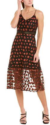BB Dakota Embroidered Midi Dress