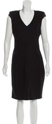 Helmut Lang Virgin Wool Knee-Length Dress