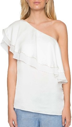 Women's Willow & Clay One-Shoulder Ruffle Top $79 thestylecure.com