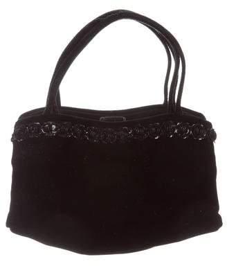 Manolo Blahnik Velvet Embellished Bag