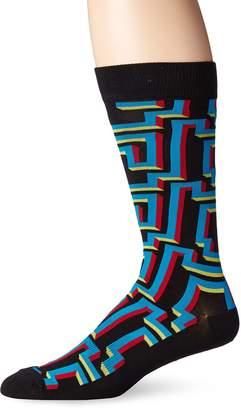 K. Bell Socks Men's 3D Maze Crew Sock