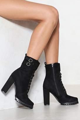 Nasty Gal Take a Hike Heeled Boot