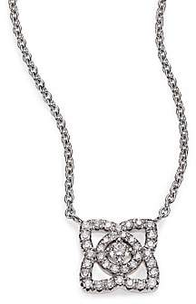 De Beers Women's Enchanted Lotus Diamond & 18K White Gold Mini Pendant Necklace