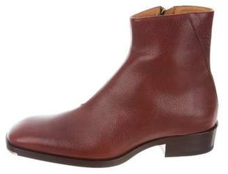 Jimmy Choo Pebbled Leather Ankle Boots w/ Tags