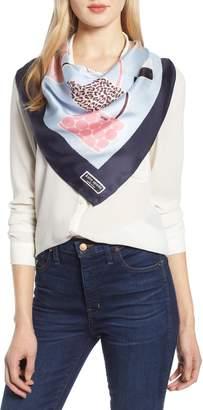 Kate Spade Sam Handbag Print Silk Scarf