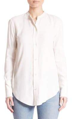 Helmut Lang Long Sleeve Back-Knotted Blouse