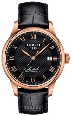 Tissot Le Locle Leather Strap Watch, 39Mm $685 thestylecure.com