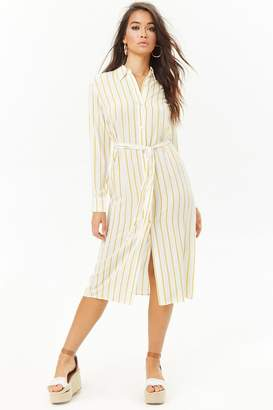 Forever 21 Striped Shirt Dress