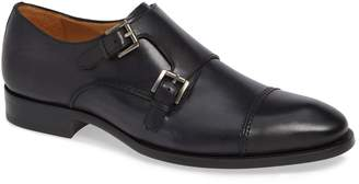 Mezlan Acosta Double Strap Cap Toe Monk Shoe