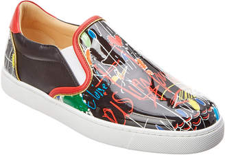Christian Louboutin Masteralta Patent Slip-On Sneaker