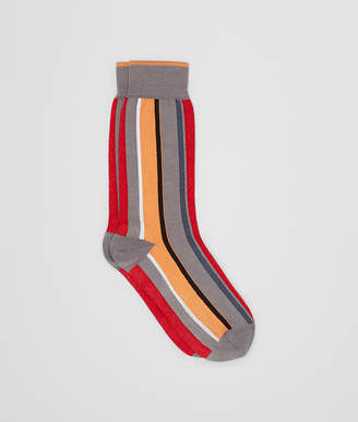 Bottega Veneta FLAME/ORANGE COTTON SOCKS