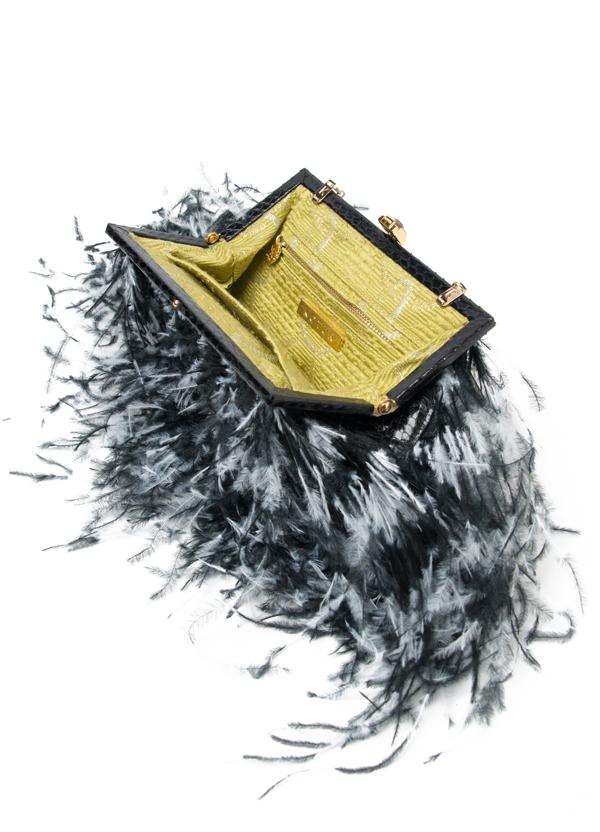Kotur Feather Clutch