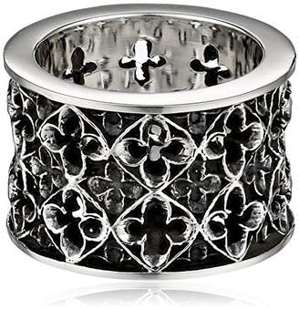 King Baby Studio Wide Relic Band Sterling Ring