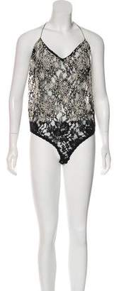 Donna Karan Embellished Sleeveless Bodysuit