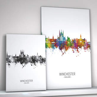 artPause Winchester Skyline Portrait Print And Box Canvas