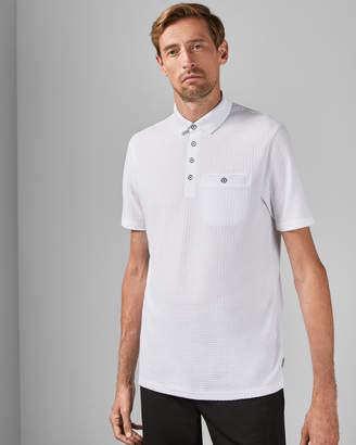 Ted Baker HUGHETT Tall textured polo shirt