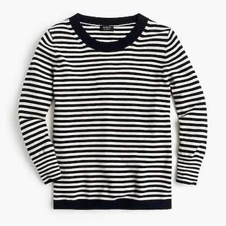 J.Crew Striped crewneck sweater in everyday cashmere