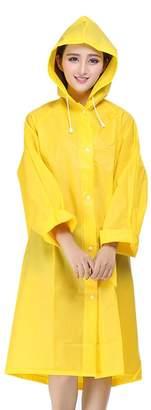 Tina Silvergray Unisex Easy Carried Fast Drying Translucent EVA Raincoat Trench Coat