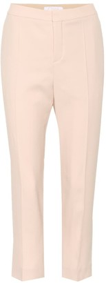 Chloé Cropped crepe trousers