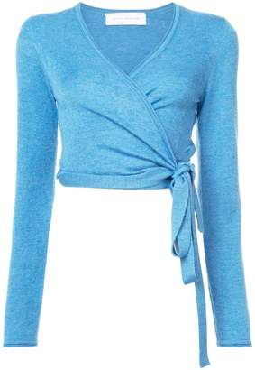 Marina Moscone V-neck wrap sweater