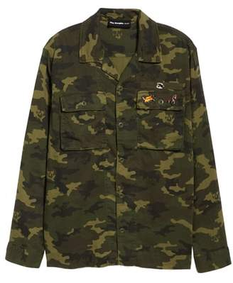 The Kooples Denim Camo Shirt Jacket